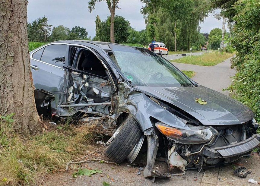 Hinweis bei Verkehrsunfällen